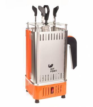 Шашлычница электрическая Kitfort KT-1403 серебристый
