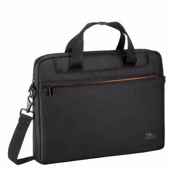 """Сумка для ноутбука 15.6"""" Riva 8033 черный/оранжевый"""