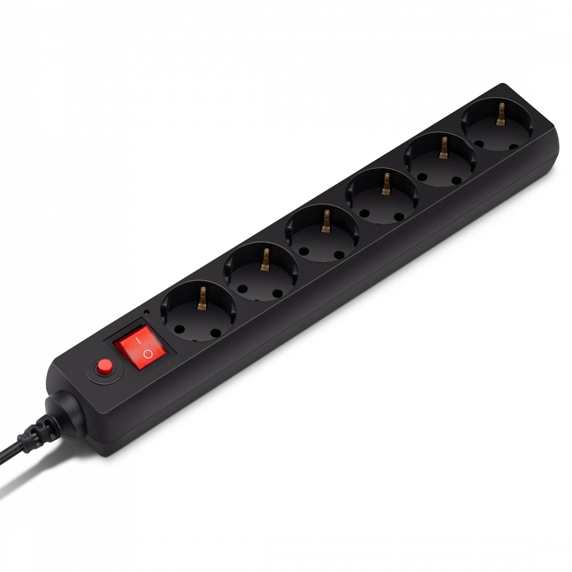 Сетевой фильтр Buro 600SH-1.8-B 1.8м черный - фото 1