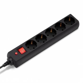 Сетевой фильтр Buro 500SH-1.8-B 1.8м черный