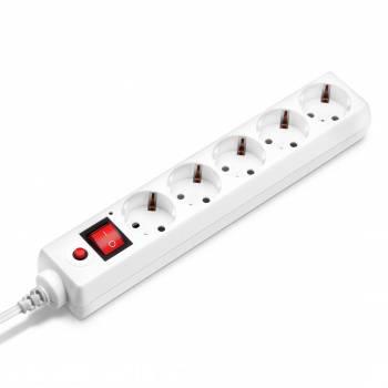 Сетевой фильтр Buro 500SH-1.8-UPS-W 1.8м белый