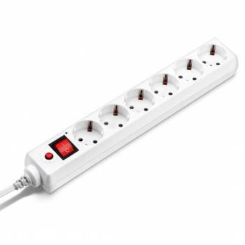Сетевой фильтр Buro 600SH-1.8-UPS-W 1.8м белый