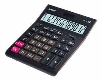 Калькулятор настольный Casio GR-12 черный (GR-12-W-EH)