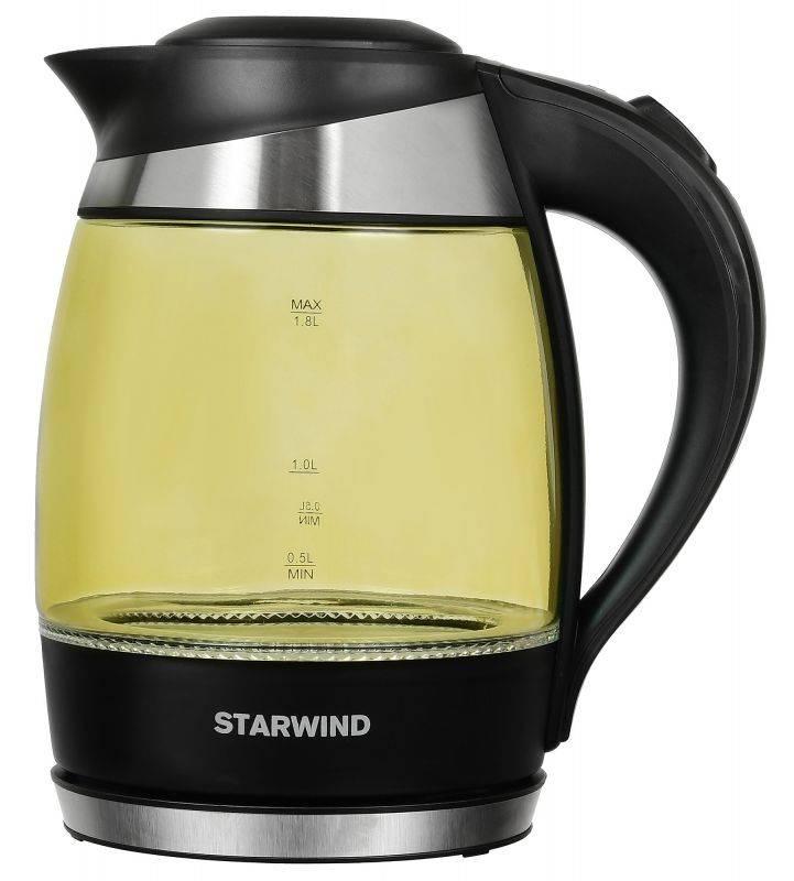 Чайник электрический Starwind SKG2215 желтый/черный - фото 1