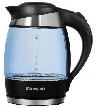 Чайник электрический Starwind SKG2218 голубой / черный