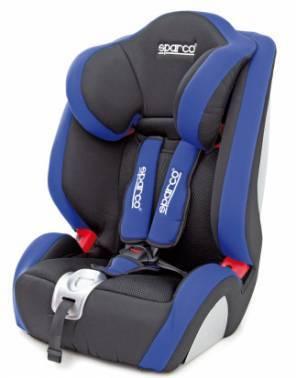 Автокресло детское Sparco F 1000 K черный / голубой