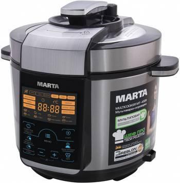 Мультиварка-скороварка Marta MT-4309 черный/серебристый