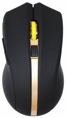 Мышь Oklick 495MW черный / золотистый